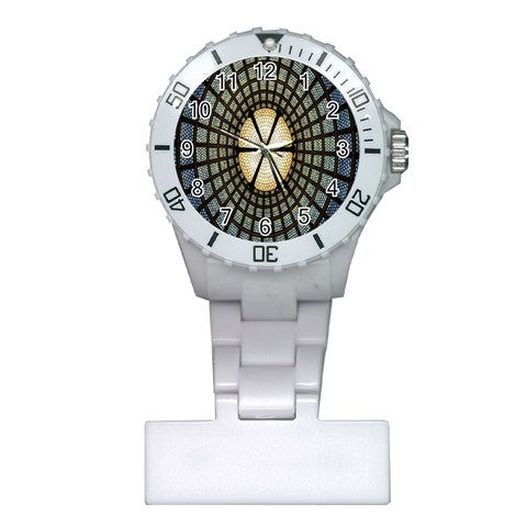 Stained Glass Colorful Glass Plastic Nurses Watch
