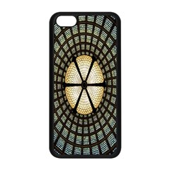 Stained Glass Colorful Glass Apple iPhone 5C Seamless Case (Black)