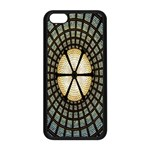 Stained Glass Colorful Glass Apple iPhone 5C Seamless Case (Black) Front