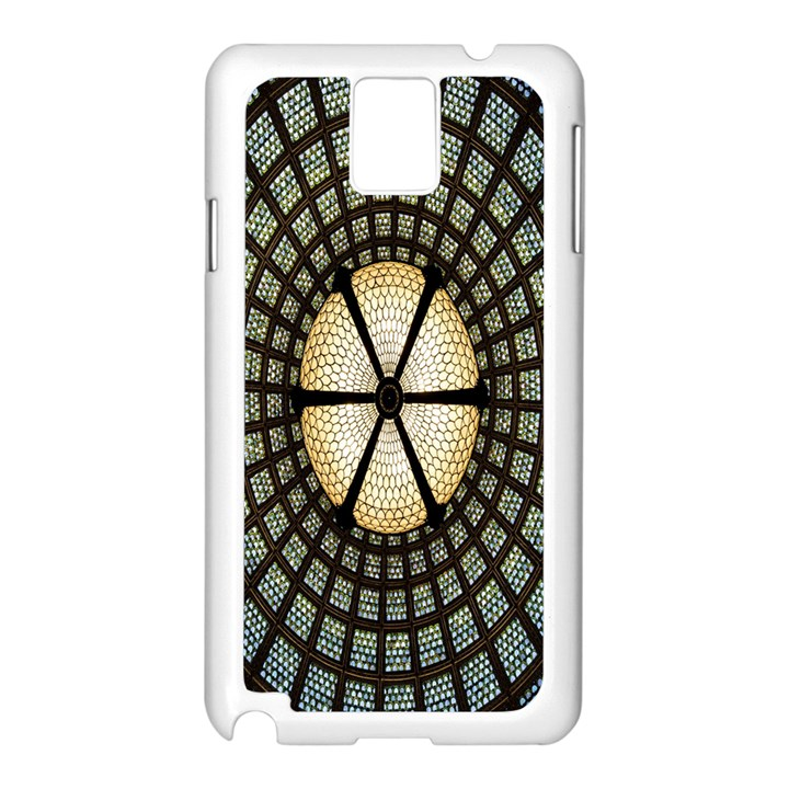 Stained Glass Colorful Glass Samsung Galaxy Note 3 N9005 Case (White)