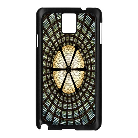 Stained Glass Colorful Glass Samsung Galaxy Note 3 N9005 Case (Black)