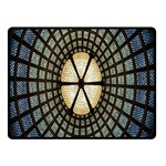 Stained Glass Colorful Glass Double Sided Fleece Blanket (Small)  50 x40 Blanket Front