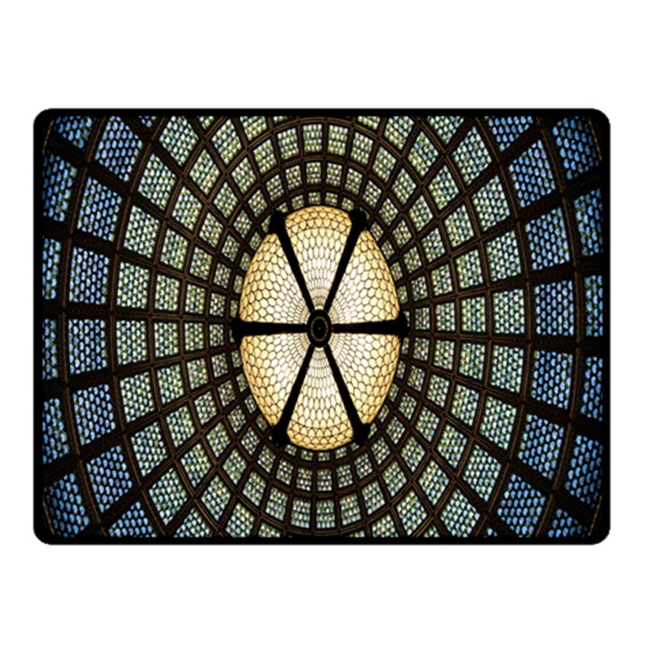 Stained Glass Colorful Glass Double Sided Fleece Blanket (Small)