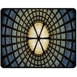 Stained Glass Colorful Glass Double Sided Fleece Blanket (Medium)  60 x50 Blanket Back