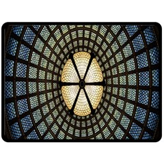 Stained Glass Colorful Glass Double Sided Fleece Blanket (Large)
