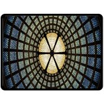 Stained Glass Colorful Glass Double Sided Fleece Blanket (Large)  80 x60 Blanket Back