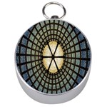 Stained Glass Colorful Glass Silver Compasses Front
