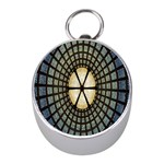 Stained Glass Colorful Glass Mini Silver Compasses Front