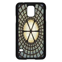 Stained Glass Colorful Glass Samsung Galaxy S5 Case (Black)