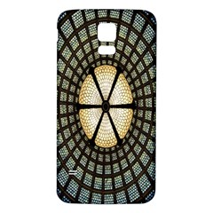 Stained Glass Colorful Glass Samsung Galaxy S5 Back Case (White)
