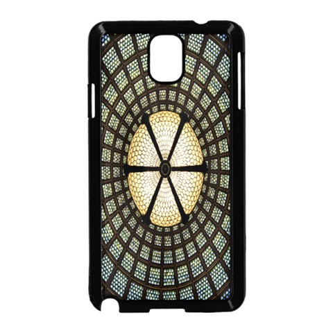 Stained Glass Colorful Glass Samsung Galaxy Note 3 Neo Hardshell Case (Black)