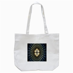 Stained Glass Colorful Glass Tote Bag (White)