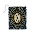 Stained Glass Colorful Glass Drawstring Pouches (Medium)  Back