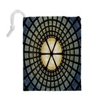 Stained Glass Colorful Glass Drawstring Pouches (Large)  Back