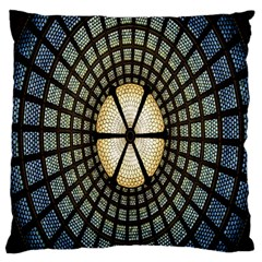 Stained Glass Colorful Glass Large Flano Cushion Case (One Side)