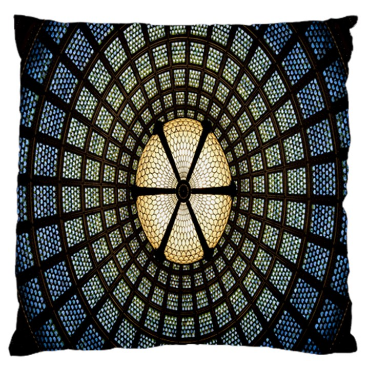 Stained Glass Colorful Glass Large Flano Cushion Case (Two Sides)