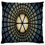 Stained Glass Colorful Glass Large Flano Cushion Case (Two Sides) Back