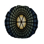 Stained Glass Colorful Glass Standard 15  Premium Flano Round Cushions Back