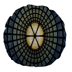 Stained Glass Colorful Glass Large 18  Premium Flano Round Cushions