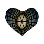 Stained Glass Colorful Glass Standard 16  Premium Flano Heart Shape Cushions Front