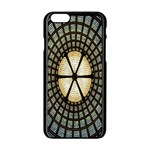 Stained Glass Colorful Glass Apple iPhone 6/6S Black Enamel Case Front