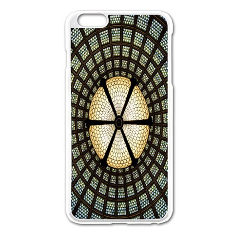 Stained Glass Colorful Glass Apple iPhone 6 Plus/6S Plus Enamel White Case