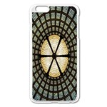 Stained Glass Colorful Glass Apple iPhone 6 Plus/6S Plus Enamel White Case Front