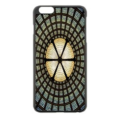 Stained Glass Colorful Glass Apple iPhone 6 Plus/6S Plus Black Enamel Case