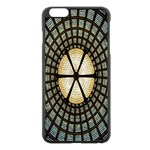 Stained Glass Colorful Glass Apple iPhone 6 Plus/6S Plus Black Enamel Case Front