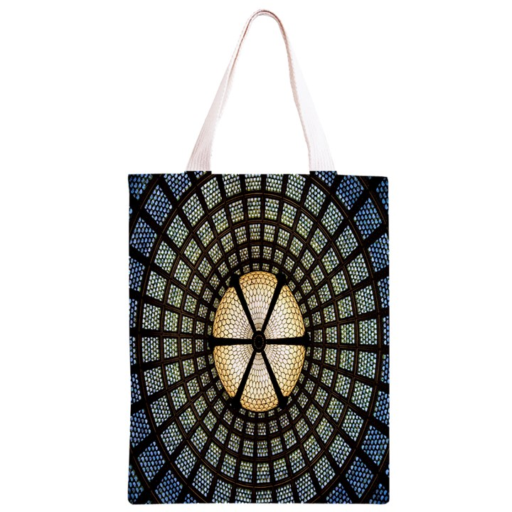 Stained Glass Colorful Glass Classic Light Tote Bag