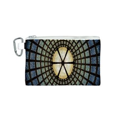 Stained Glass Colorful Glass Canvas Cosmetic Bag (S)