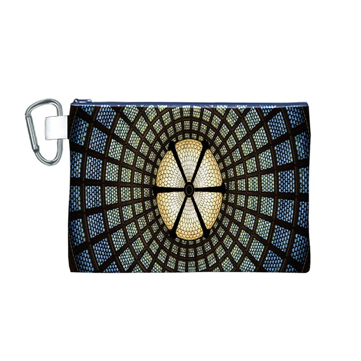 Stained Glass Colorful Glass Canvas Cosmetic Bag (M)