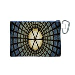 Stained Glass Colorful Glass Canvas Cosmetic Bag (M) Back