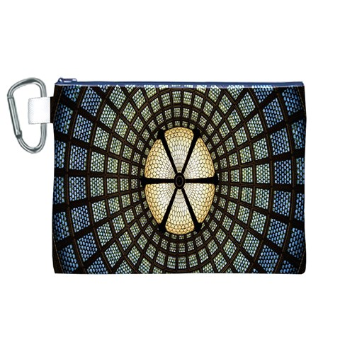 Stained Glass Colorful Glass Canvas Cosmetic Bag (XL)