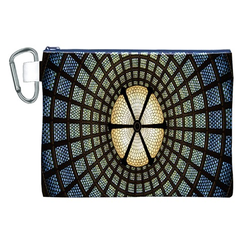 Stained Glass Colorful Glass Canvas Cosmetic Bag (XXL)