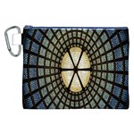 Stained Glass Colorful Glass Canvas Cosmetic Bag (XXL) Front