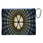 Stained Glass Colorful Glass Canvas Cosmetic Bag (XXL) Back