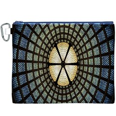 Stained Glass Colorful Glass Canvas Cosmetic Bag (XXXL)