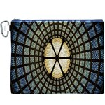 Stained Glass Colorful Glass Canvas Cosmetic Bag (XXXL) Front