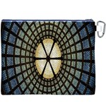 Stained Glass Colorful Glass Canvas Cosmetic Bag (XXXL) Back