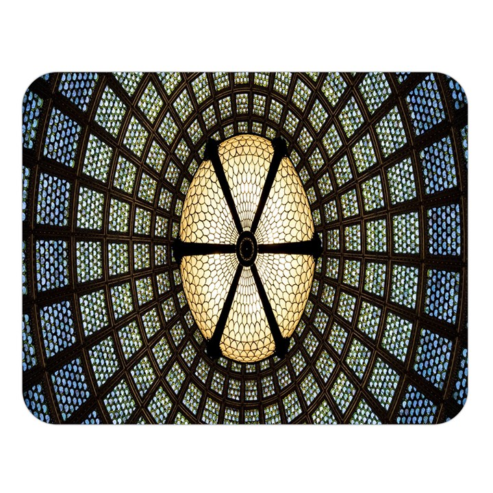 Stained Glass Colorful Glass Double Sided Flano Blanket (Large)