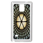 Stained Glass Colorful Glass Samsung Galaxy Note 4 Case (White) Front