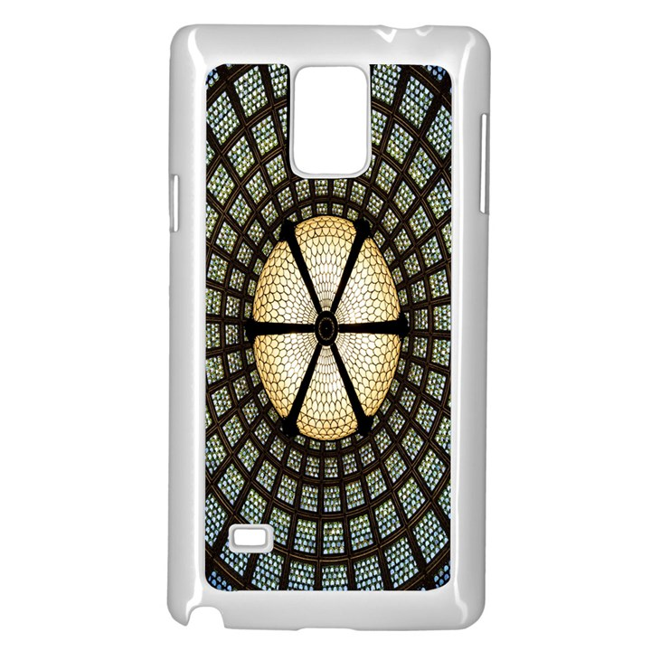 Stained Glass Colorful Glass Samsung Galaxy Note 4 Case (White)