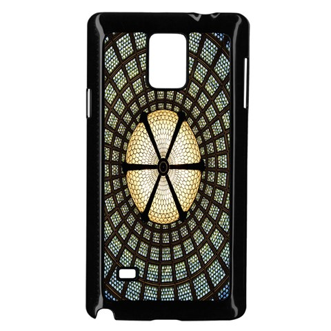 Stained Glass Colorful Glass Samsung Galaxy Note 4 Case (Black)
