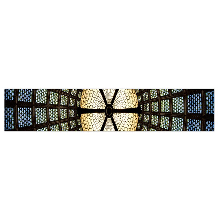 Stained Glass Colorful Glass Flano Scarf (Small)