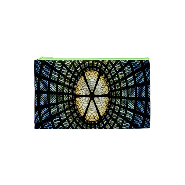 Stained Glass Colorful Glass Cosmetic Bag (XS)