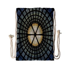 Stained Glass Colorful Glass Drawstring Bag (Small)