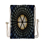 Stained Glass Colorful Glass Drawstring Bag (Small) Back