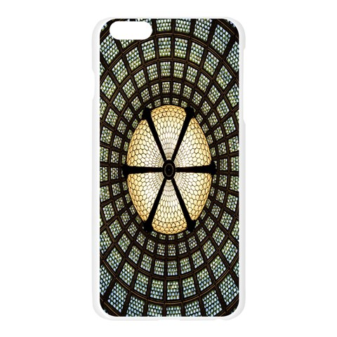 Stained Glass Colorful Glass Apple Seamless iPhone 6 Plus/6S Plus Case (Transparent)