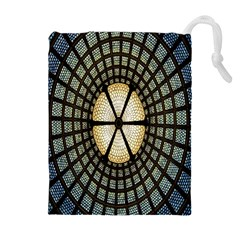 Stained Glass Colorful Glass Drawstring Pouches (Extra Large)
